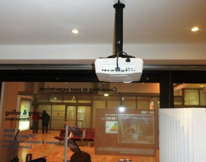 Installation Multizone film projection