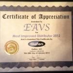 EAVS récompensé par GEFEN lors de l'ISE