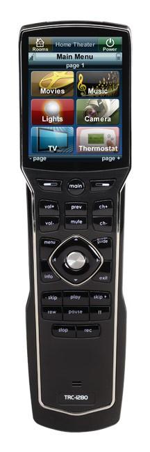 Télécommande ergonomique Wifi avec écran tactile URC TRC-1280