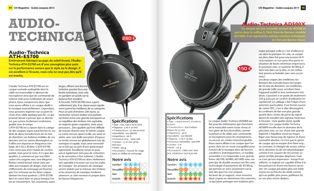 On-Mag Guide casques audiophiles 2014