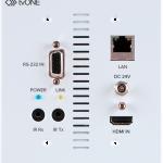 tvONE présente un boîtier mural 4K HDBaseT 5play