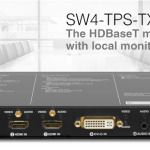 SW4-TPS-TX240 de LIGHTWARE : le switcher multi-format HDBaseT avec moniteur local