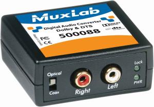 Convertisseur audio numérique, Dolby et DTS 500088 Muxlab