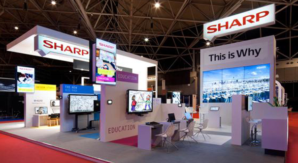 Sharp stand ISE 2015