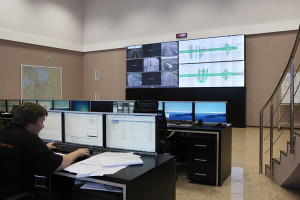 Christie Digital displays in command center of the Ring highway around Saint-Petersburg