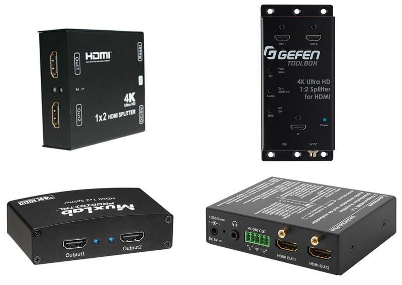 4 distributeurs HDMI pour diffuser une source vers deux écrans