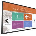 Un grand écran tactile Philips avec gestion avancée du contenu