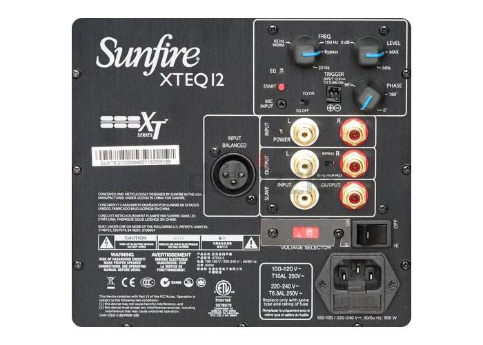 sunfire XTEQ connexions