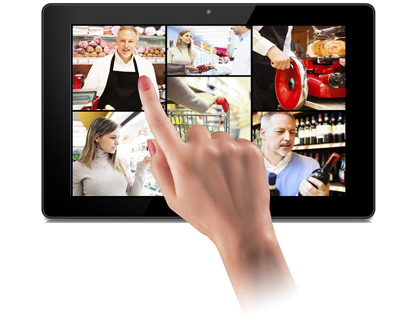 Une grande tablette tactile professionnelle idéale pour les points de vente