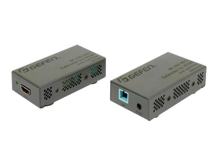 Un extender HDMI Gefen sur fibre optique pour de la 4K HDR non compressée