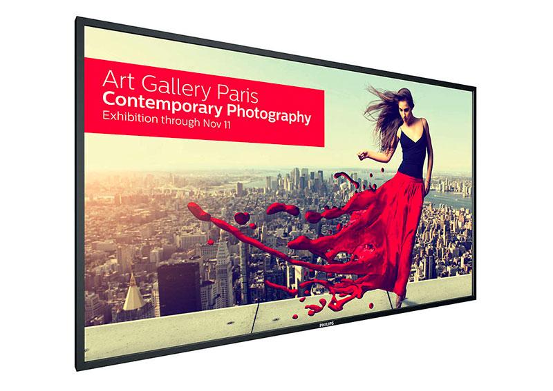 """Un écran 4K Philips 75"""" autonome pour l'affichage dynamique"""