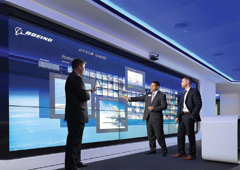 Le centre de collaboration Boeing repose sur une distribution audio/vidéo Lightware