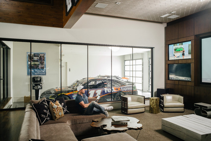 Elan Denny Hamlin Home garage