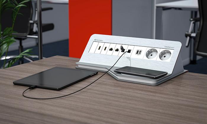 Kindermann CablePort desk2 chargeur induction Qi