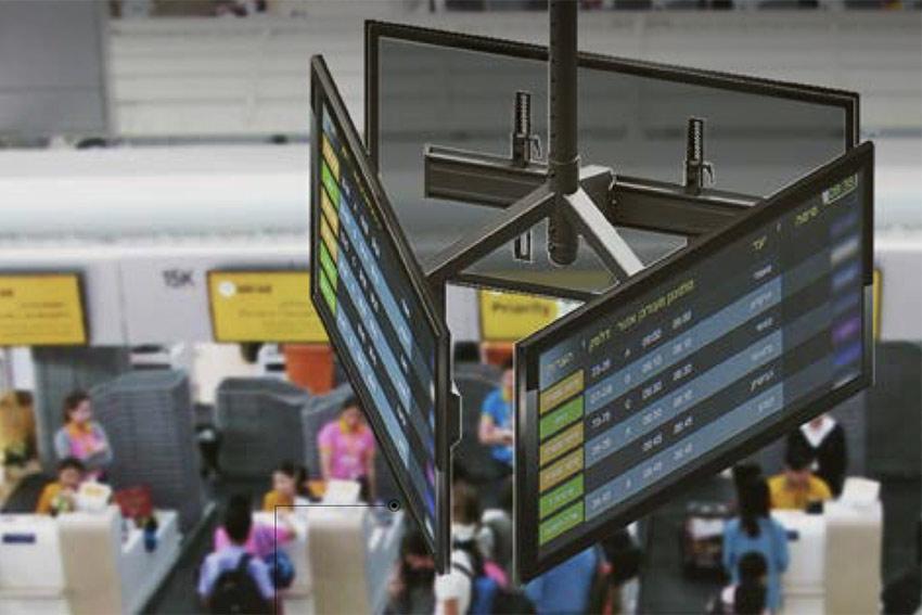 Fixez de multiples écrans en hauteur avec la gamme Edbak Menu Board