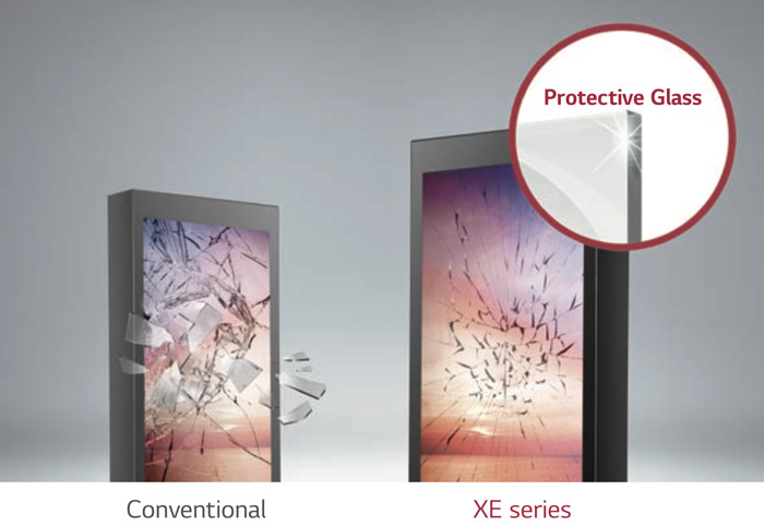 LG XE3C glace protection