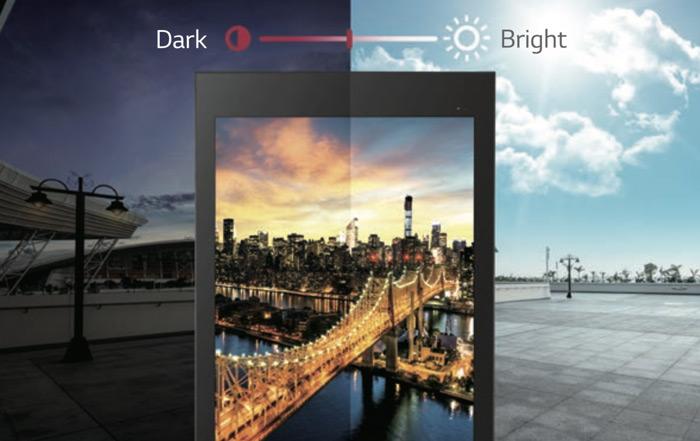 LG XE3C luminosite automatique