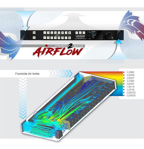 Lightware mx2-8x8-hdmi20-audio airflow