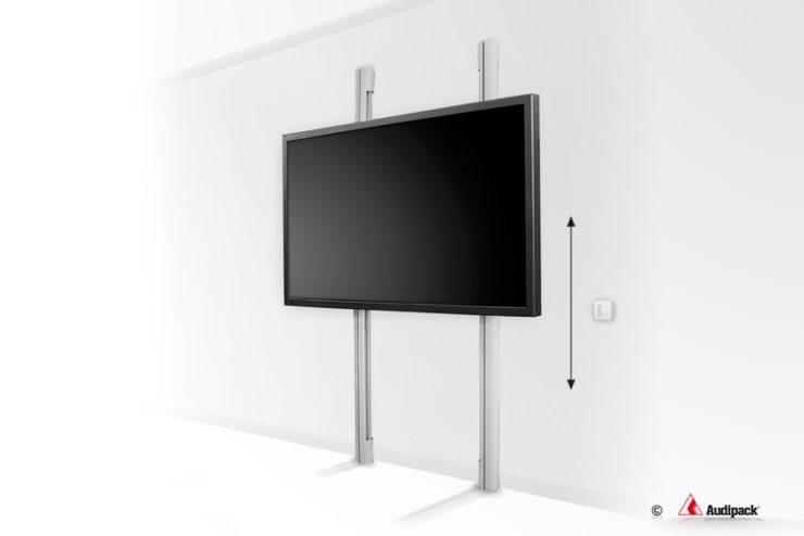 Comment modifier la position verticale d'un écrangrâce aux supports motorisés Audipack
