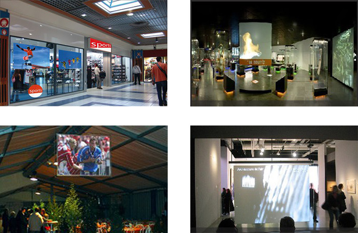 film transparent retroprojection exemples 2