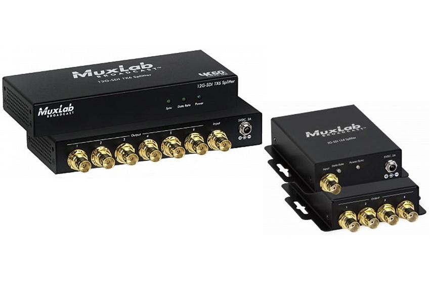 Distribuez du SD-SDI jusqu'au 12G-SDI 4K avec les nouveaux splitters Muxlab