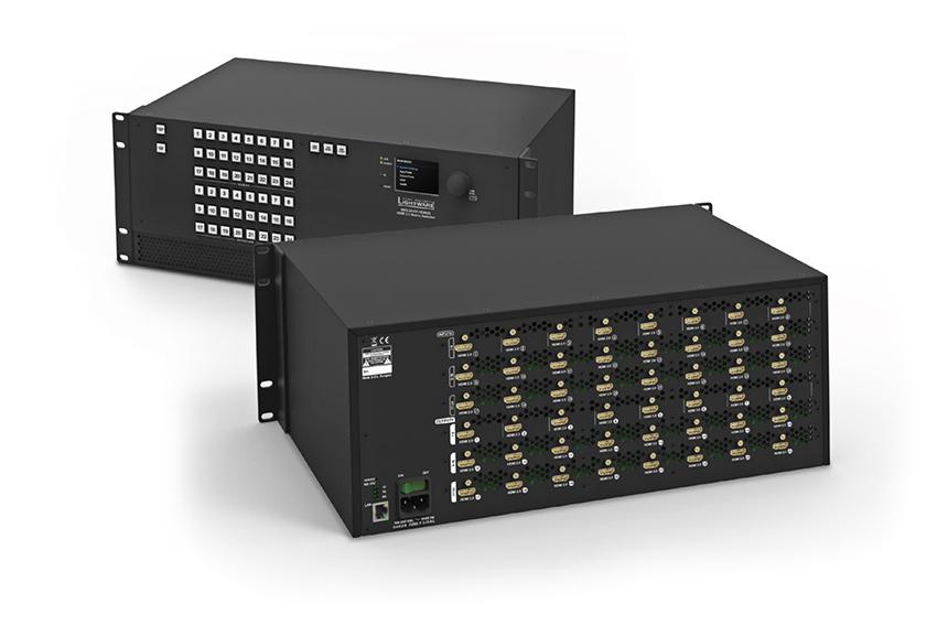 Pour faire le plein d'entrées/sorties, une matrice HDMI 24x24 compatible 4K et HDR chez Lightware
