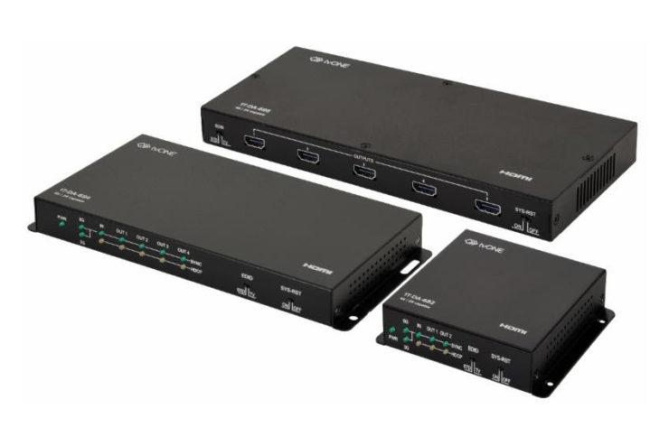 Avec tvONE, distribuez une source 4K HDR vers deux, quatre ou huit écrans