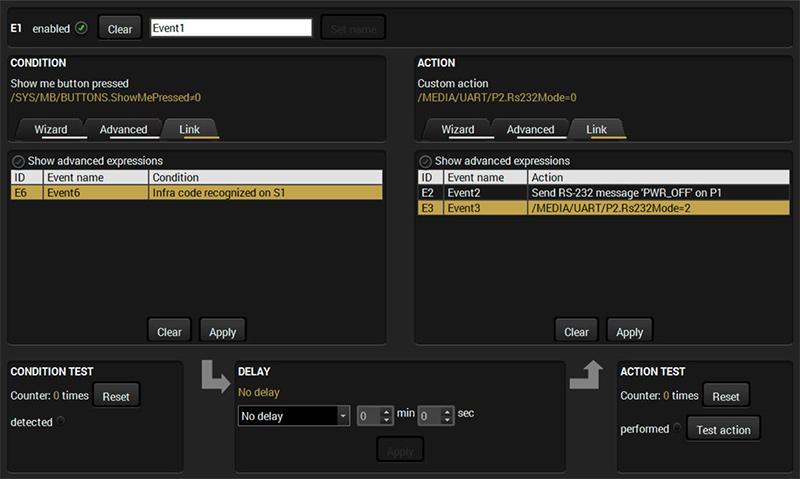 Lightware Event Manager mode link