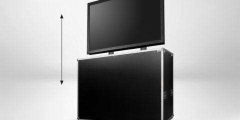 Audipack FLM-5369 : un flight case vidéo avec ascenseur motorisé intégré