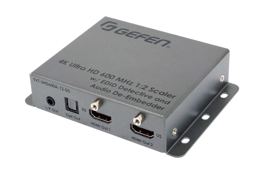 Un double scaler 4K, un de-embedder audio et un HDMI détective, le tout en un seul mini boîtier Gefen