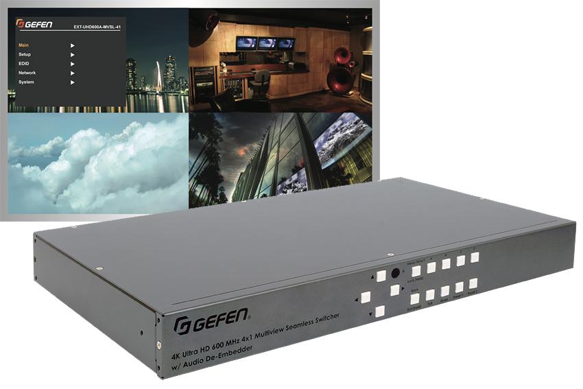 Un switcher HDMI avec multi fenêtrage personnalisable chez Gefen