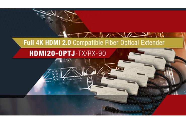 Transmettez du HDMI 4K jusqu'à 600 mètres avec le Lightware HDMI20-OPTJ-TX/RX90