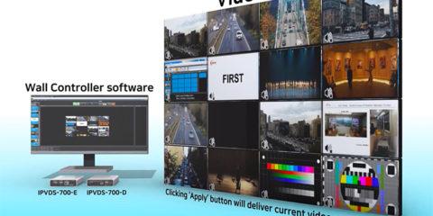 Un mur d'images entièrement sur IP grâce à Opticis