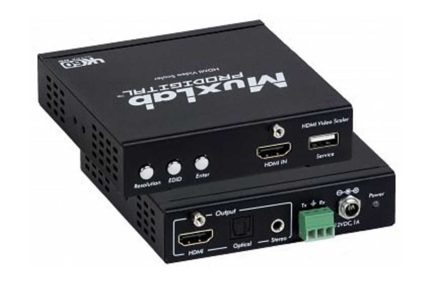 Un mini scaler HDMI 4K facile à installer chez MuxLab