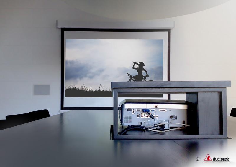 Les supports de table motorisés pour vidéoprojecteurs par Audipack