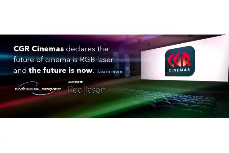 Tous les cinémas CGR vont passer à la vidéoprojection RealLaser RGB Christie