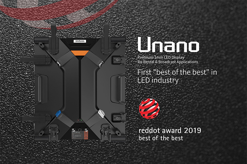 "Le panneau LED Unilumin Unano remporte un ""best of the best"" reddot Award"