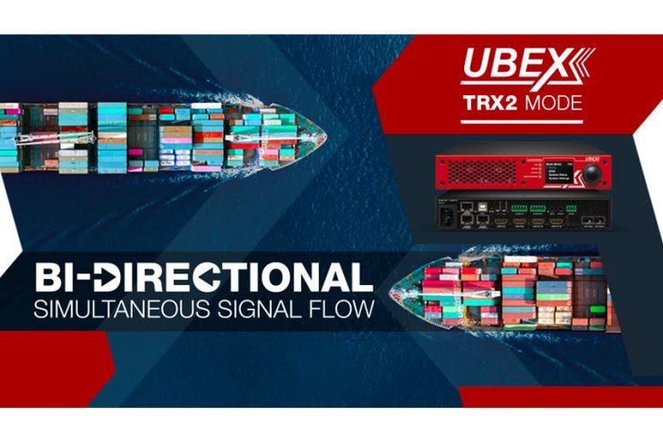 La transmission 4K bidirectionnelle grâce au mode TRX2 des extendeurs Lightware UBEX