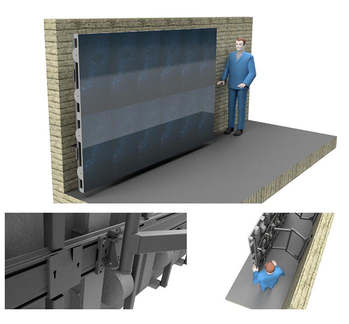 Un nouveau support articulé pour murs LED chez Edbak