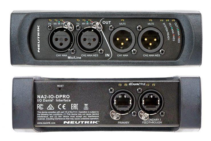Neutrik NA2-IO-DPRO : une nouvelle interface audio sur IP Dante 3 en 1