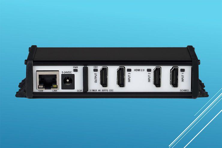 Le micro switch HDMI 3x1 GCHMX3 dans la gamme de modules Global Caché Global Connect