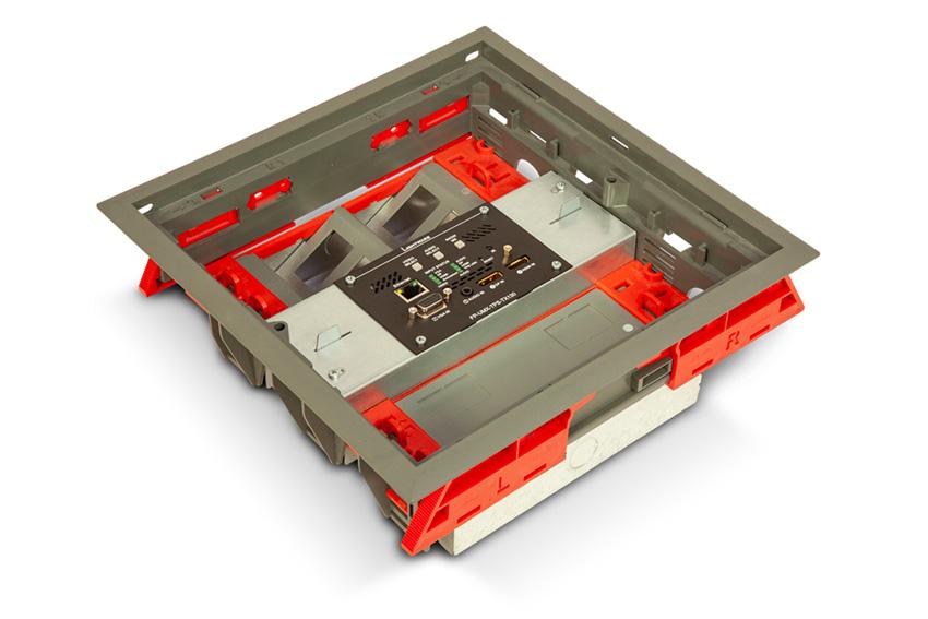 Cachez vos extenders dans les boites de sol avec Lightware