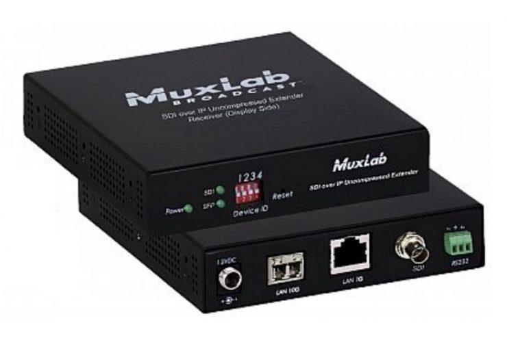 Des extendeurs SDI sur IP chez MuxLab, en fibre ou en cuivre