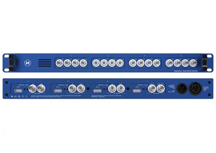 Une quadruple interface DisplayPort vers quad SDI chez Theatrixx