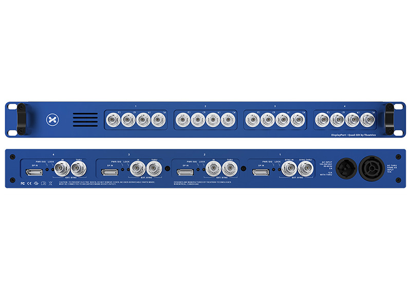 Une quadruple interface DisplayPort vers quad SDI chez Theatrixx