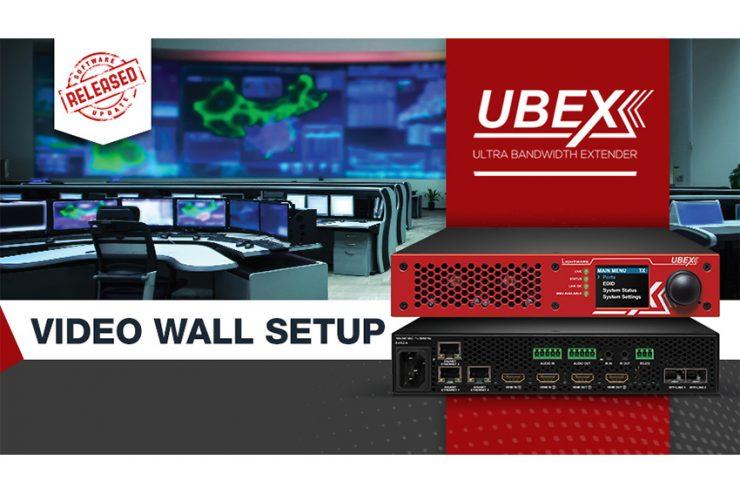 Les interfaces Lightware UBEX permettent de créer des murs d'images jusqu'à 32 écrans