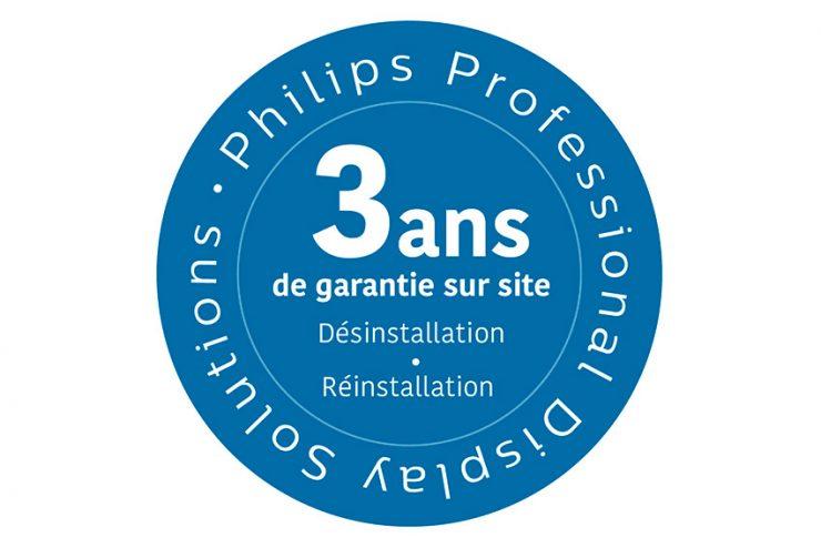 Avec la garantie 3 ans, Philips désinstalle et réinstalle vos moniteurs