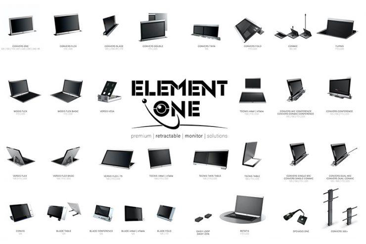 Tous les avantages des moniteurs motorisés de table Element One