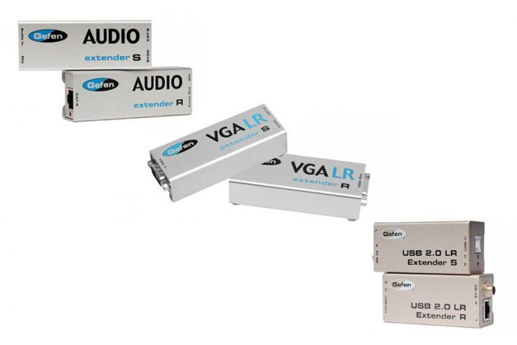 Les mini extendeurs Gefen pour le VGA, l'audio et l'USB