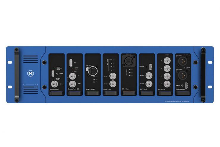 Le rack 8 emplacements TXVV-RF8 pour les interfaces Theatrixx (vidéo)